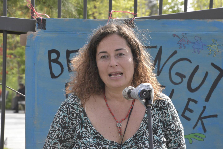 """Pinar Selek, réfugiée turque nationalisée française, est l'une des organisatrices de l'opération """"Toutes aux frontières!"""""""