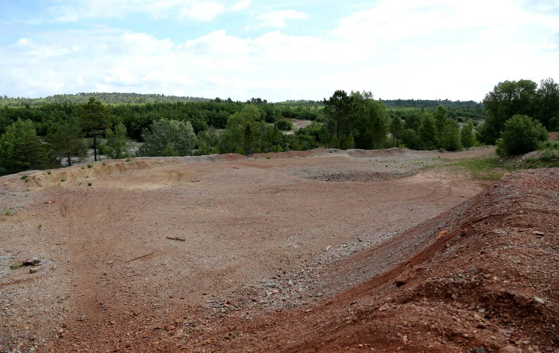 Des travaux d'aménagement ont débuté sur le site exploité.