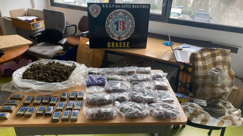 Le commissariat de Grasse a fait main basse sur plus de 7 kilos de cannabis. (Photo DR)
