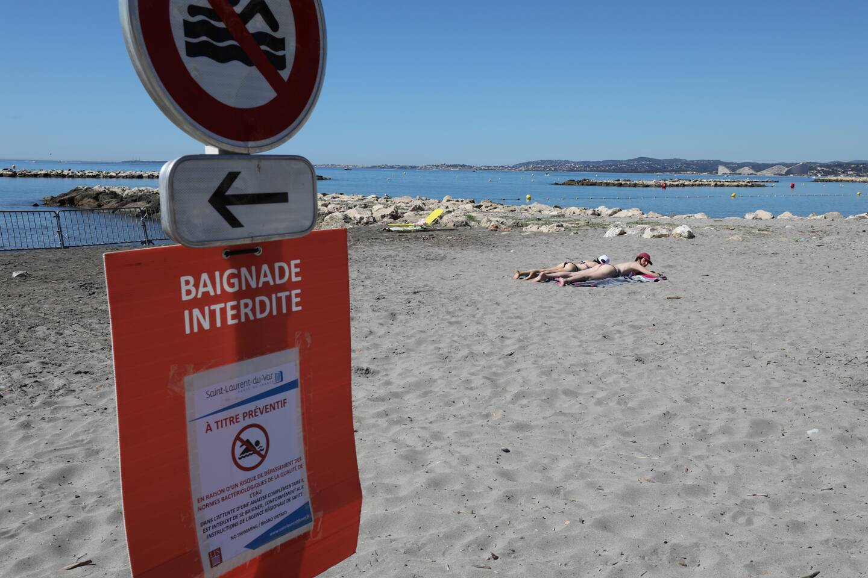 La baignade sur les plages Landsberg, Cousteau et des Flots Bleus en raison de travaux dans la station d'épuration à la suite de l'incendie qui a touché la structure mi-juillet.