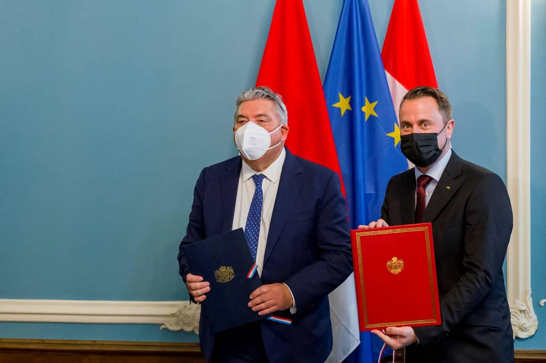 Pierre Dartout, ministre d'État de Monaco, et Xavier Bettel, Premier ministre du Grand-Duché ont signé cet accord.