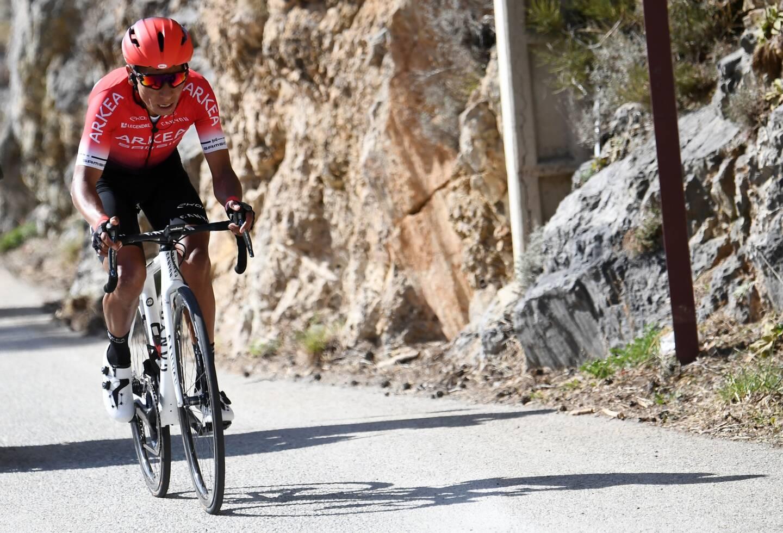 Nairo Quintana lors de sa victoire au sommet de La Colmiane l'an passé.