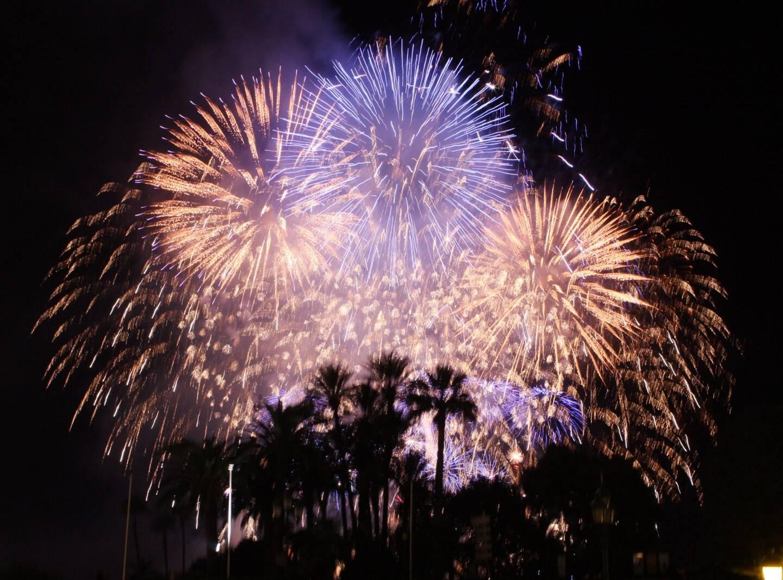 Le feu d'artifice du réveillon de la nouvelle année (illustration).