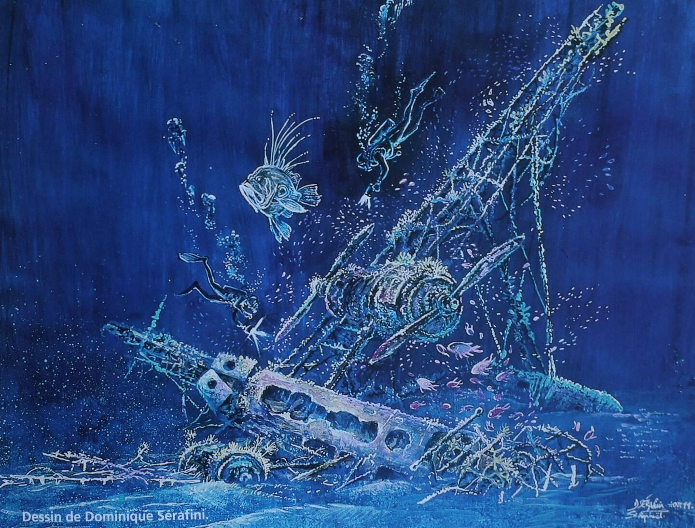 Le Latécoère 550H a coulé en 1933 dans les eaux du golfe de Fréjus.