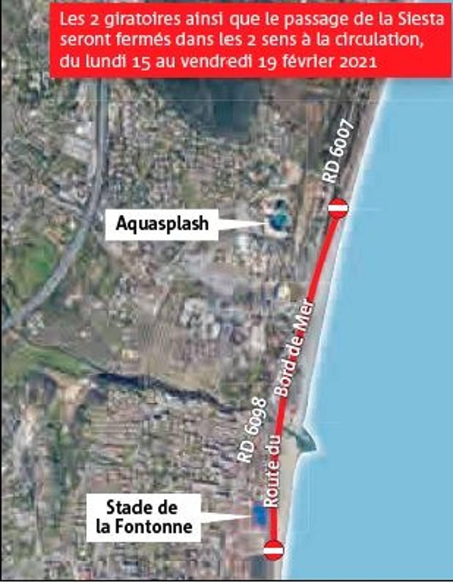 La route du bord de mer sera fermée dès lundi et jusqu'à vendredi.