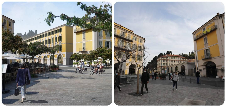 "A gauche, le futur ""Village Garibald"". A droite, aujourd'hui."