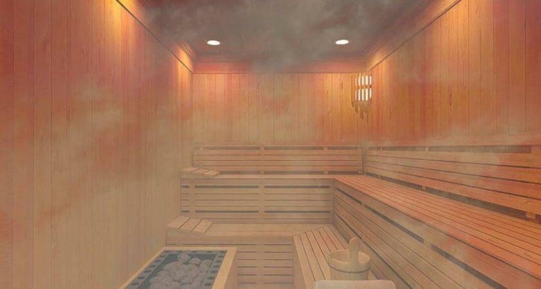 Illustration d'un sauna.