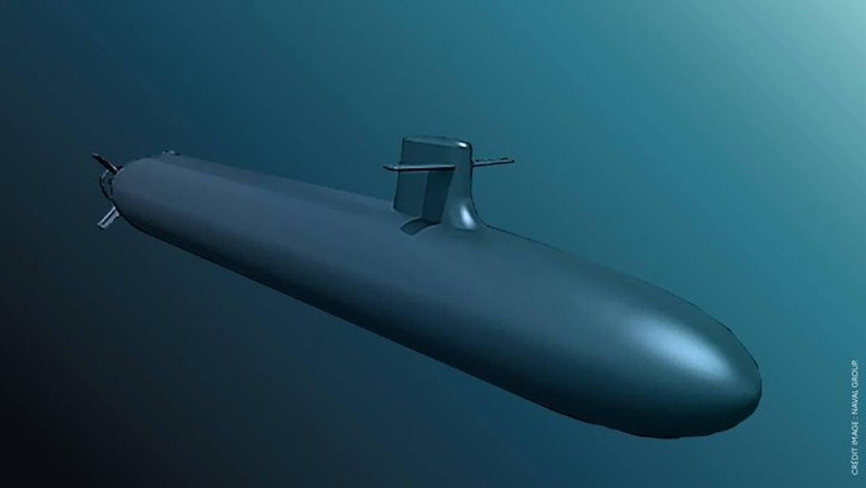 La ministre des Armées a posté la photo de ce modèle de sous-marin sur son compte Twitter.