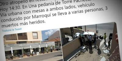 """Il fonce dans une terrasse, tue un homme et meurt dans l'accident, une enquête pour """"terrorisme"""" ouverte en Espagne"""