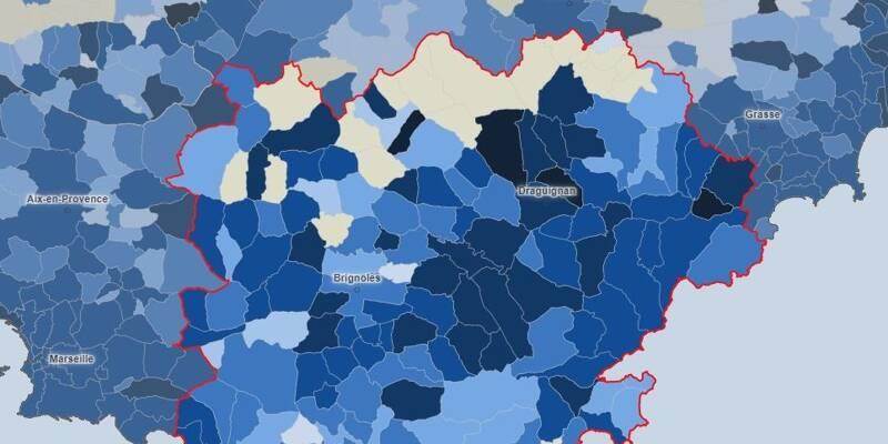 Covid-19: la carte de l'épidémie dans le Var, commune par commune - Var-Matin