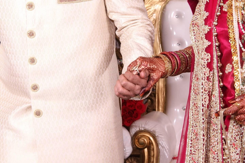 Illustration d'un mariage indien.