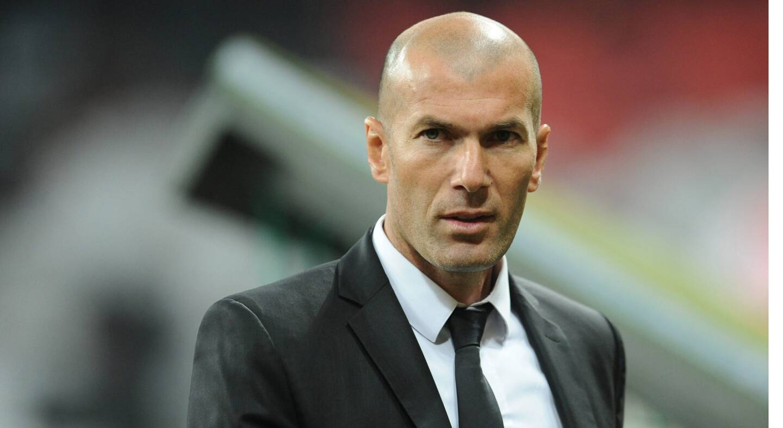 L'entraîneur du Real Madrid Zinedine Zidane.